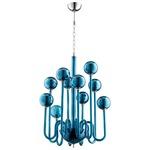 Marilyn Chandelier - Blue Glass
