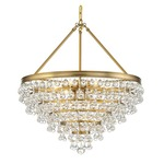 Calypso Chandelier - Vibrant Gold / Clear