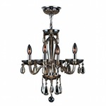 Gatsby 4 Light Chandelier - Chrome / Golden Teak