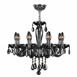 Gatsby 8 Light Chandelier - Chrome / Smoke