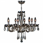 Gatsby 8 Light Chandelier - Chrome / Golden Teak