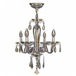 Gatsby 4 Light Chandelier - Chrome / Amber