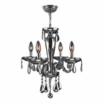 Gatsby 4 Light Chandelier - Chrome / Chrome