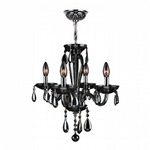 Gatsby 4 Light Chandelier - Chrome / Smoke