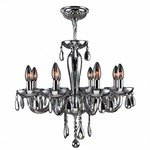 Gatsby 8 Light Chandelier - Chrome / Chrome