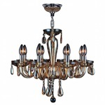 Gatsby 8 Light Chandelier - Chrome / Amber