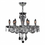 Gatsby 8 Light Chandelier - Chrome / Clear