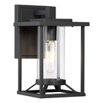 Trescott Outdoor Wall Light - Black / Clear