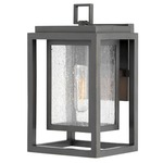 Republic 120V Outdoor Wall Light - Oil Rubbed Bronze / Clear Seedy