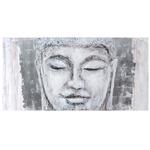 Buddha Wall Art - Silver Leaf
