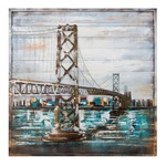 Bay Bridge Wall Art - Painted