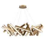 Chaos Chandelier - Aged Brass