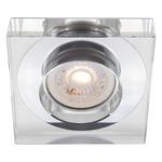Designer 3IN RD Decorative Glass Trim - Chrome / Clear