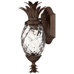 Plantation Outdoor Wall Light Clear Optic - Copper Bronze / Clear Optic