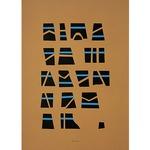 Scrittura Illeggibile Brown Art Print -