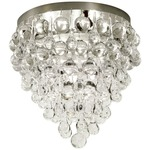 Borealis Ceiling Flush Mount - Polished Nickel / Clear