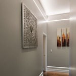 Reveal Warm Dim Cove/Pathway Plaster-In LED System 24V - Aluminum