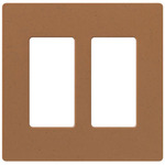 Claro 2-Gang Wall Plate - Satin Terracotta /