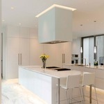 Verge Ceiling 5W Warm Dim Plaster-In System - Aluminum
