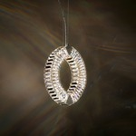 Eyris Mono Pendant - Stainless Steel / Crystal