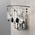 Sinus Wall Sconce - Chrome / Black