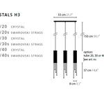 Sexy Crystals Linear Suspension 6319/55 -  /