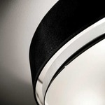 Iris Flushmount Ceiling Light - Brushed Nickel / Black