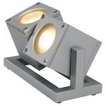 Cubix II Outdoor Floor Spot Light - Silver Grey /
