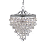 Calypso Pendant - Polished Chrome / Clear