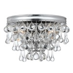 Calypso Wall Light - Polished Chrome / Clear