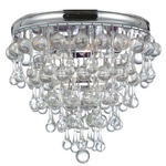 Calypso Flush Mount Ceiling Light - Polished Chrome / Clear