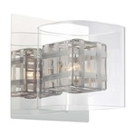 Jewel Box Bath Bar - Chrome / Clear / Aluminum