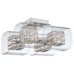 Jewel Box Ceiling Flush Mount - Chrome / Clear / Aluminum