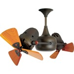 Duplo Dinamico Ceiling Fan - Bronze / Mahogany