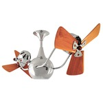 Vent-Bettina Ceiling Fan - Chrome / Mahogany