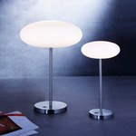 Viennese Table Lamp - Satin Nickel / Satin White