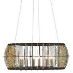 Zanzibar Round Chandelier - Light Bronze Gold / Raj Mirror
