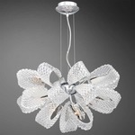 Origami 11 Light Chandelier - Chrome / Clear Crystal
