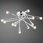 Zazu Ceiling Flush Mount - White / Chrome