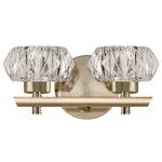 Basin Bathroom Vanity Light - Vintage Brass / Clear