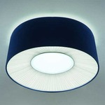 Velvet Ceiling Light Fixutre -  / Blue Shade/ Warm White Diffuser