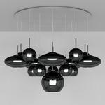 Range Mega Multi Light Pendant - Black Copper