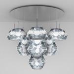Cut Mega Multi Light Pendant - Chrome