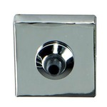 FreeJack LED 2 Inch Square Flush Canopy - Chrome /