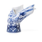 Blow Away Vase - Blue/ White