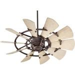 Windmill Ceiling Fan - Oiled Bronze / Weathered Oak