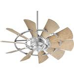 Windmill Outdoor Ceiling Fan - Galvanized / Weathered Oak