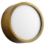 Peepers Ceiling / Wall Light Fixture - Aged Brass / Matte White Acrylic