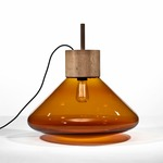 Muffins Lamp - Natural Waxed American Walnut / Transparent Cognac