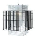 Mesh Cubic Small Pendant - Black
